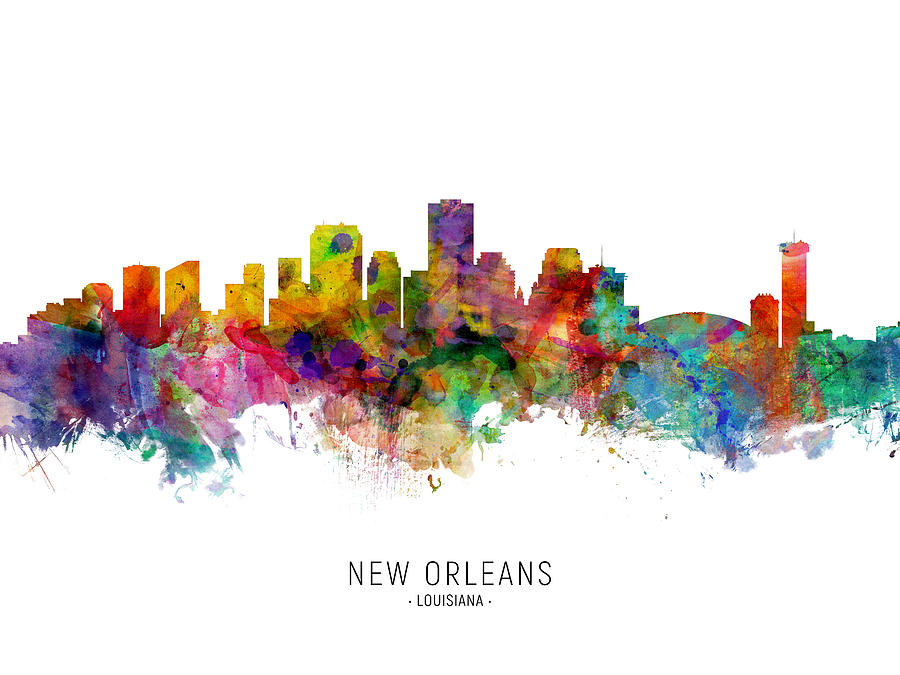New Orleans Digital Art - New Orleans Louisiana Skyline by Michael Tompsett