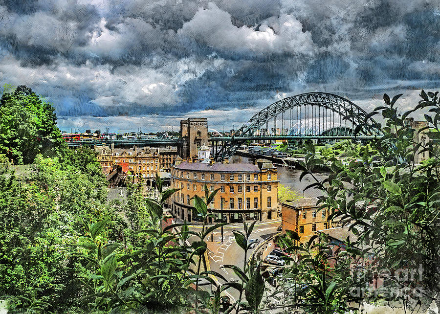 Newcastle upon Tyne city art by Justyna Jaszke JBJart