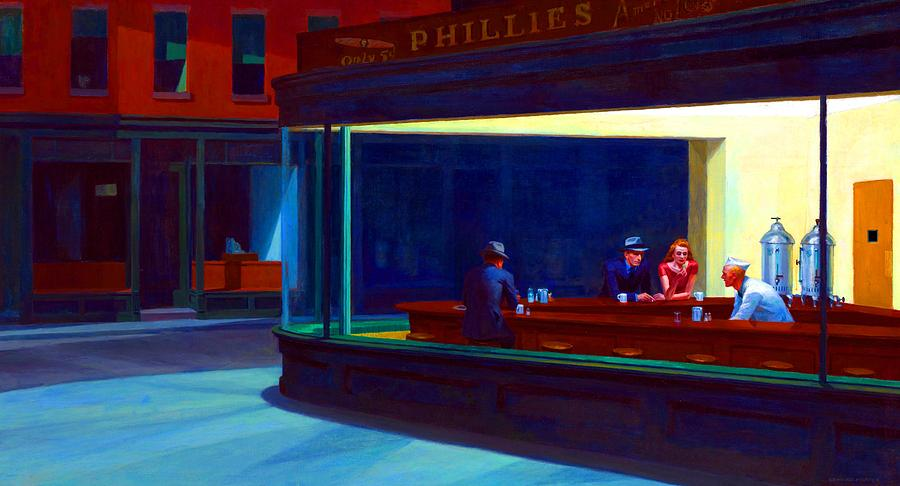 Edward Hopper Painting - Nighthawks by Hopper Edward