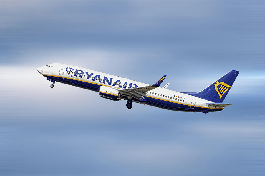 Ryanair Mixed Media - Ryanair Boeing 737-8as by Smart Aviation