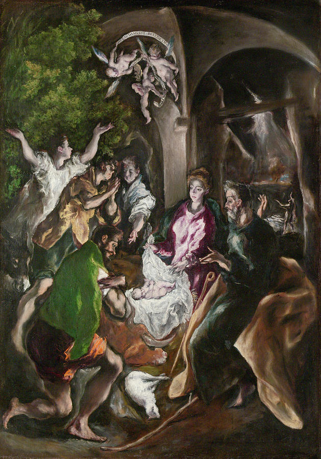 El Greco Painting - The Adoration Of The Shepherds  by El Greco