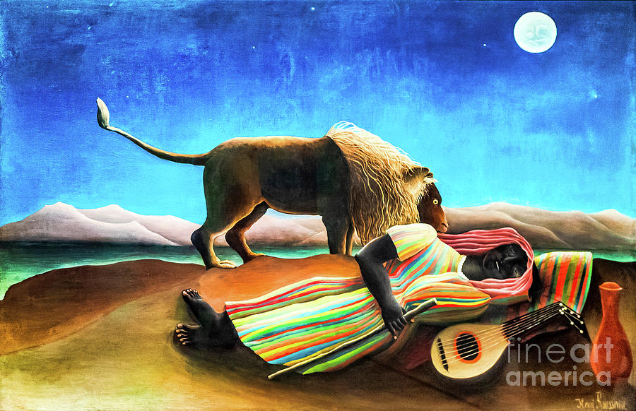 The Sleeping Gypsy by Rousseau by Henri Rousseau