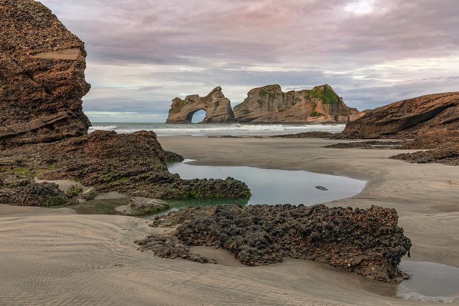 Wharariki Beach Photograph - Wharariki Beach - New Zealand by Joana Kruse