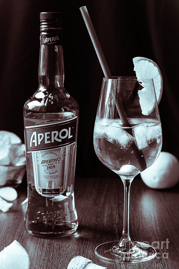 100 years of Aperol and Coctail Spritz monochrome by Marina Usmanskaya