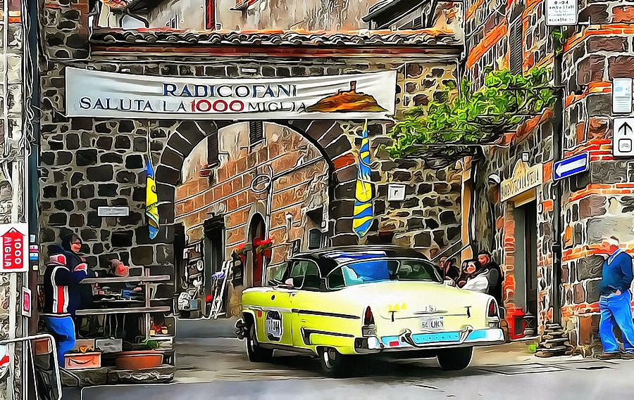 1000 Miglia Entry to Radicofani in Tuscany by Dorothy Berry-Lound