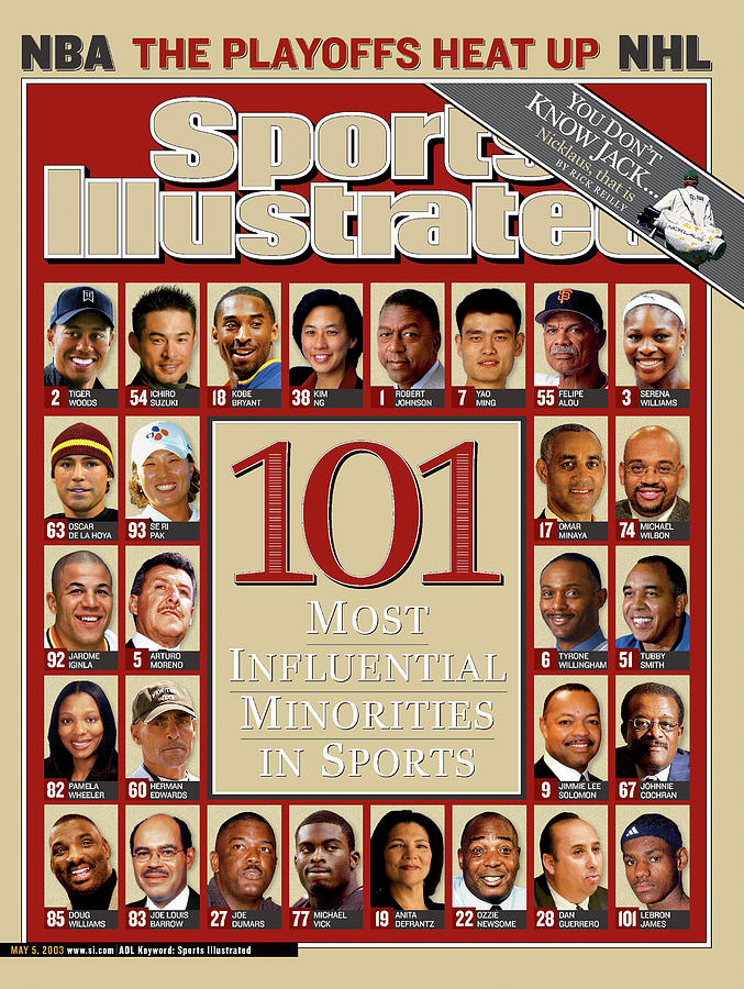 101 Most Influential Minorities In Sports Sports Illustrated Cover Photograph by Sports Illustrated