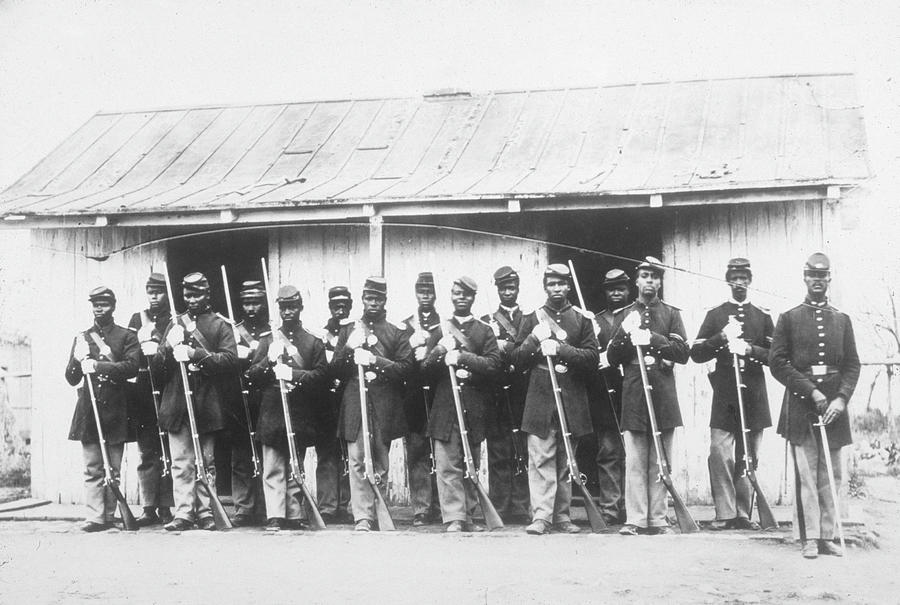 107th Us Coloured Infantry Photograph by Archive Photos