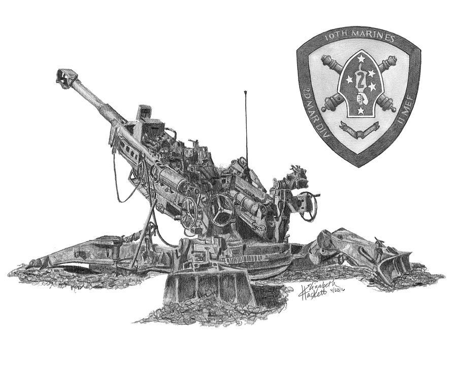 10th Marines 777 by Betsy Hackett