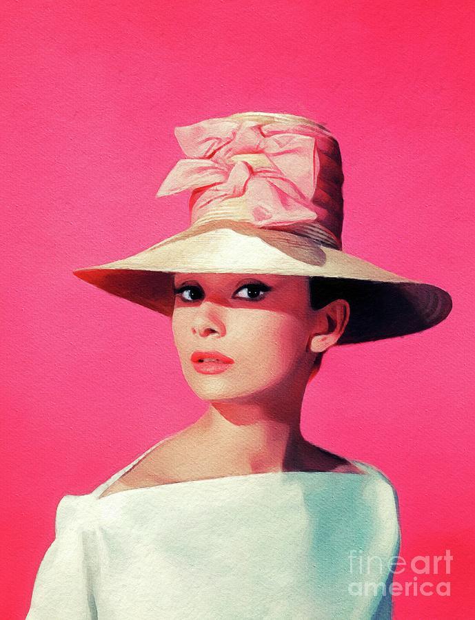 Audrey Hepburn, Vintage Movie Star Painting