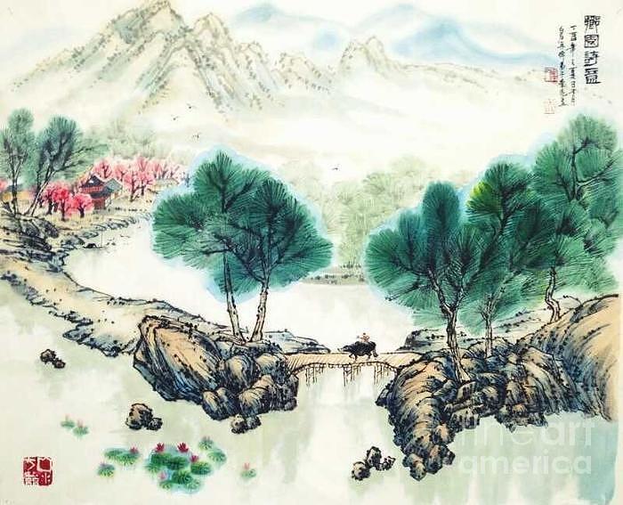 A Bueatiful Home Towne by LI LIANG