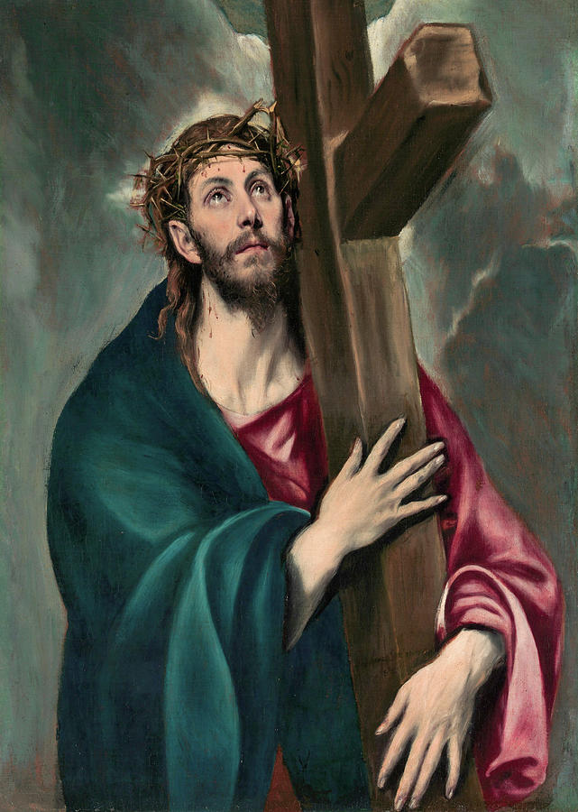 El Greco Painting - Christ Carrying The Cross  by El Greco