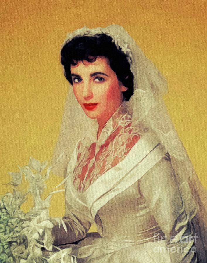 Elizabeth Taylor, Vintage Movie Star Painting