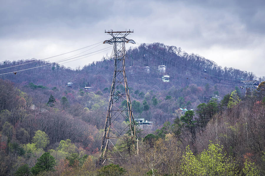 gatlinburg tennessee city in smoky mountains by ALEX GRICHENKO