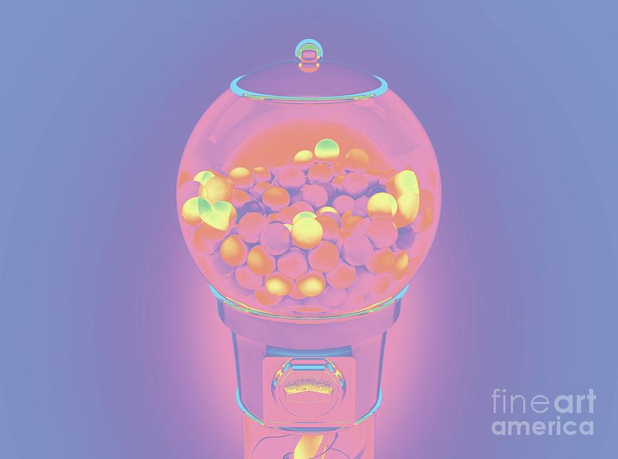 Gumball Dispensing Machine Digital Art