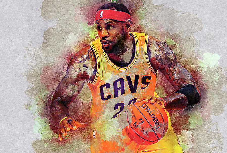 Lebron James Digital Art - Lebron Raymone James by Nadezhda Zhuravleva