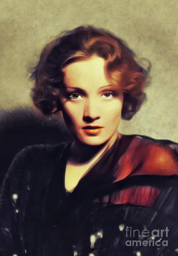Marlene Dietrich, Vintage Movie Star Painting