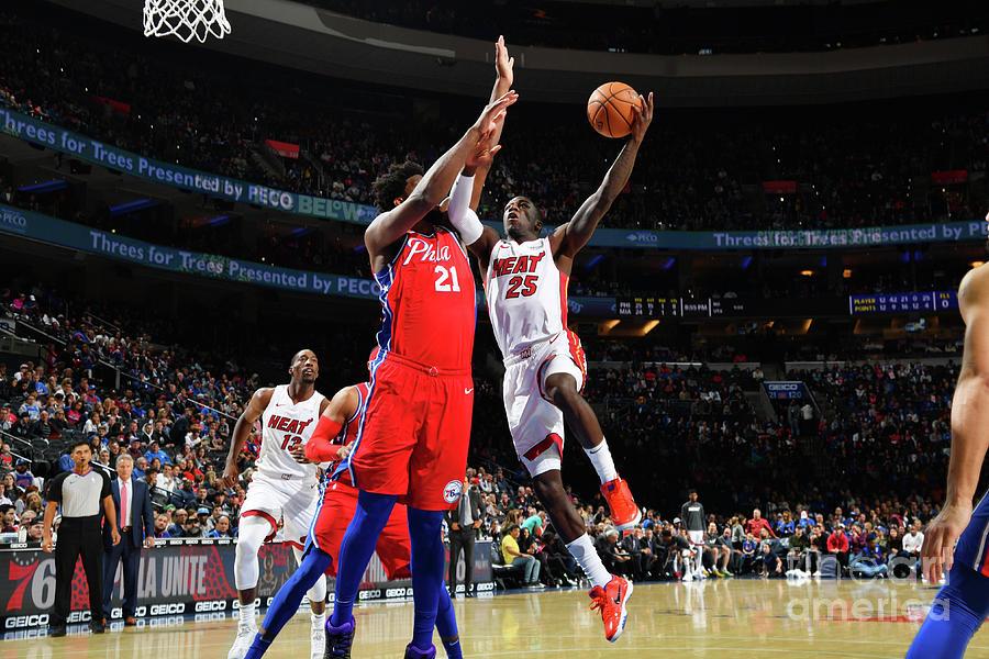 Miami Heat V Philadelphia 76ers Photograph by Jesse D. Garrabrant