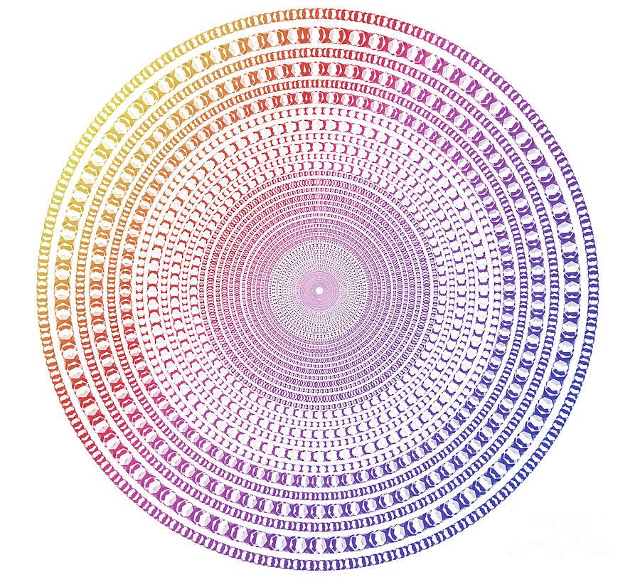 vintage multicolor circle by ATIKETTA SANGASAENG