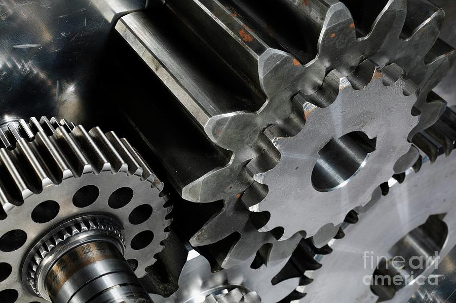 Accuracy Photograph - Gears And Cogs 12 by Christian Lagerek/science Photo Library
