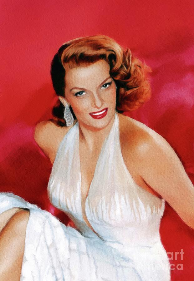 Jane Russell, Vintage Movie Star Painting