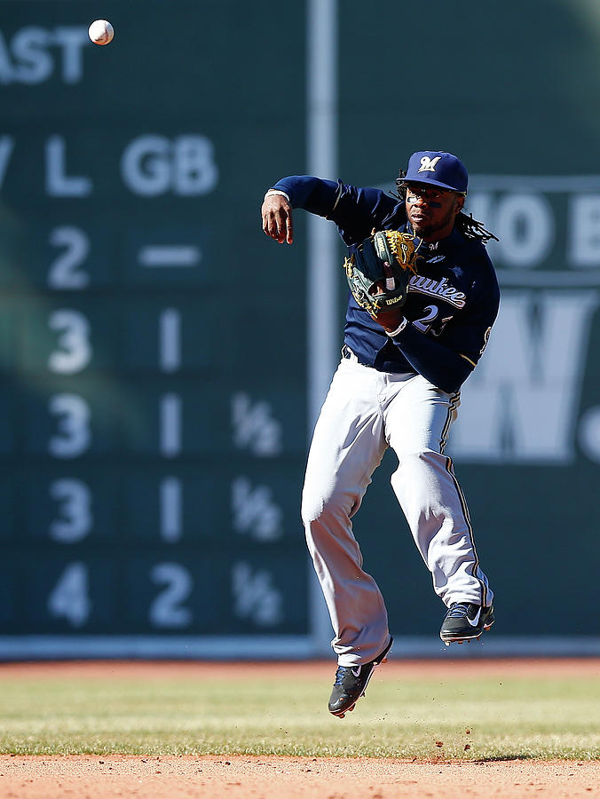 Milwaukee Brewers V Boston Red Sox Photograph by Jared Wickerham