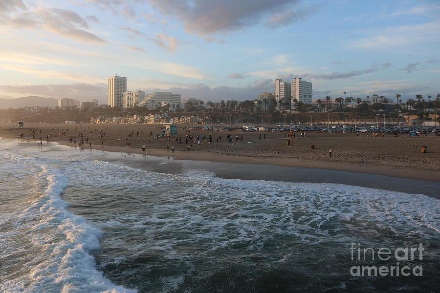 Pacific Sunset , Santa Monica, California by John Shiron