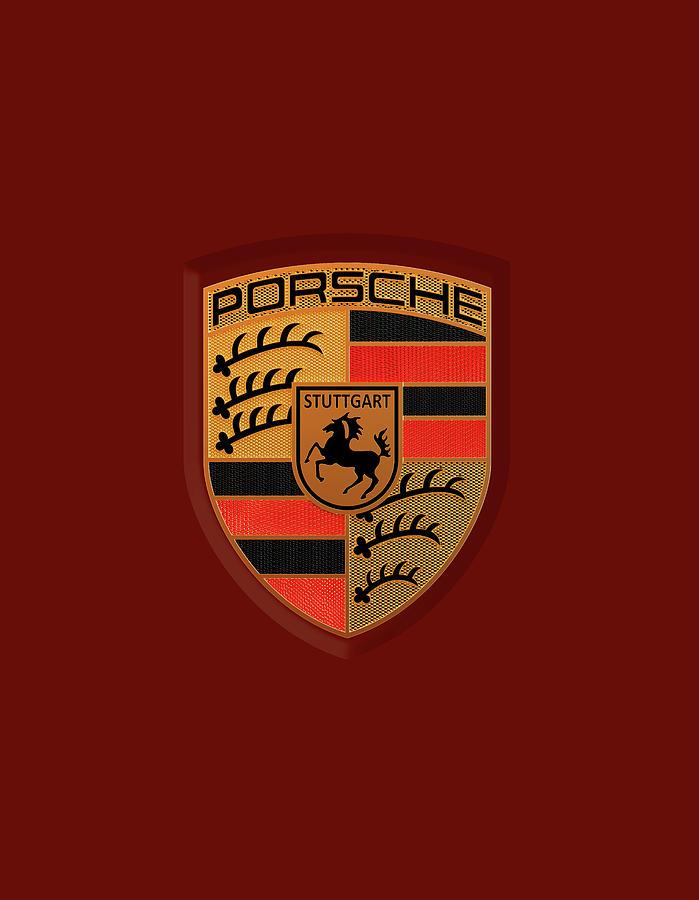 Porsche Logo Label Emblem Badge Digital Art By Noelia Bartell
