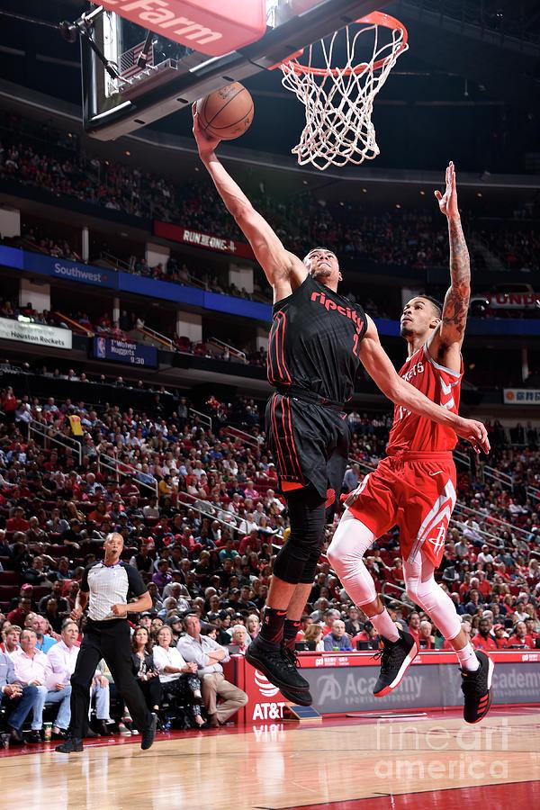 Portland Trail Blazers V Houston Rockets Photograph by Bill Baptist