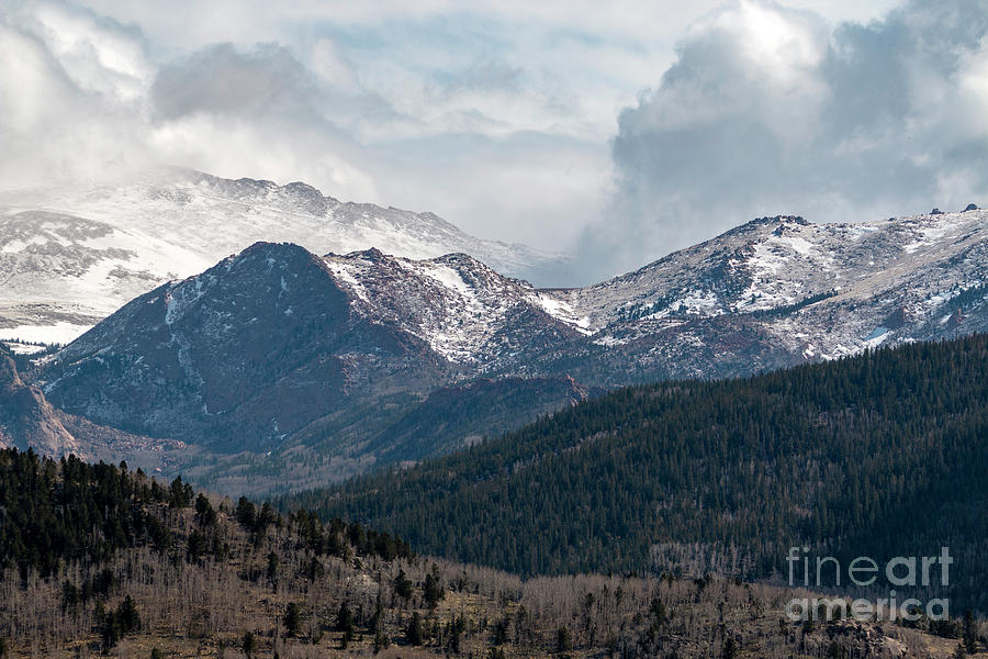 Storm Clouds on Pikes Peak Colorado by Steve Krull