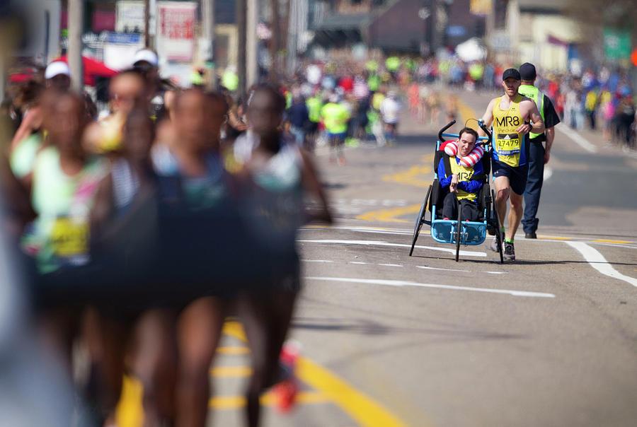 120th Boston Marathon Photograph by Boston Globe