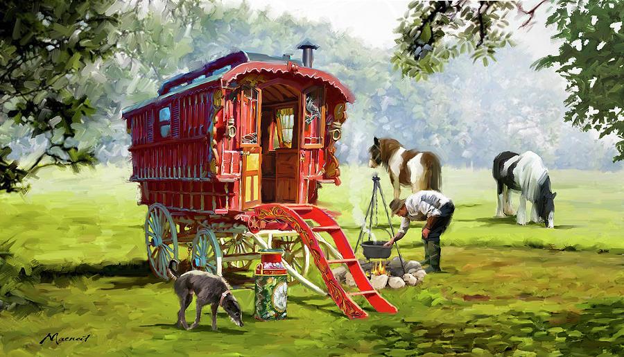 Gypsy Caravan Mixed Media - 1223 Gypsy Caravan by The Macneil Studio
