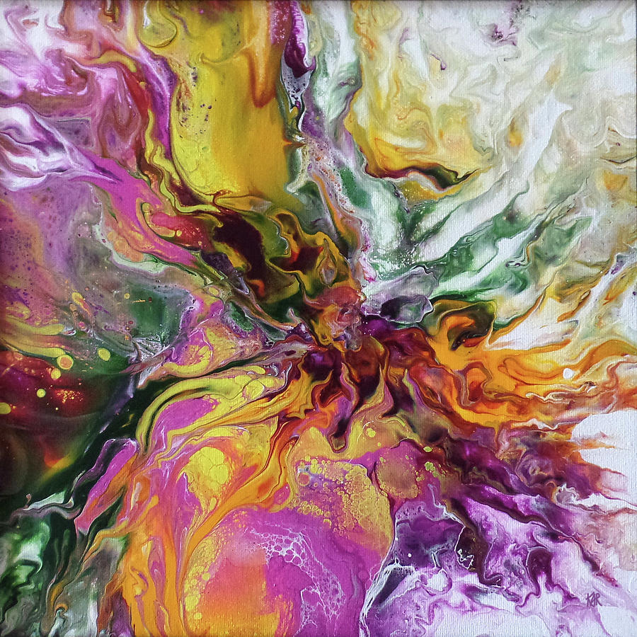 Abstract Painting - 12x12DP4 by Art by Kar