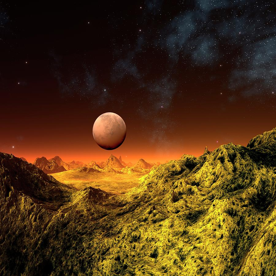 Alien Planet, Artwork Digital Art by Mehau Kulyk