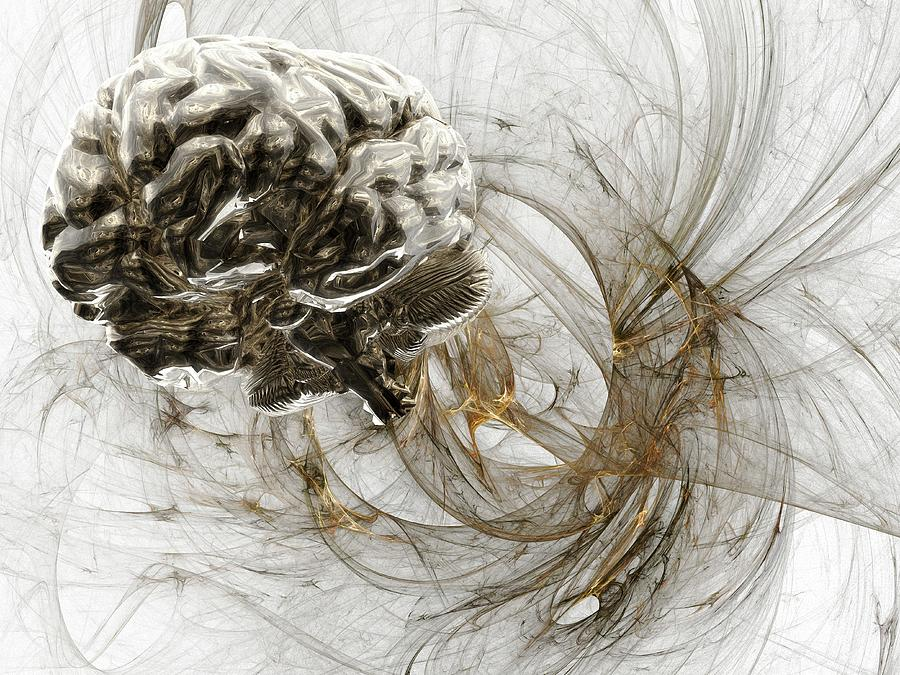 Brain Research, Conceptual Artwork Digital Art by Laguna Design