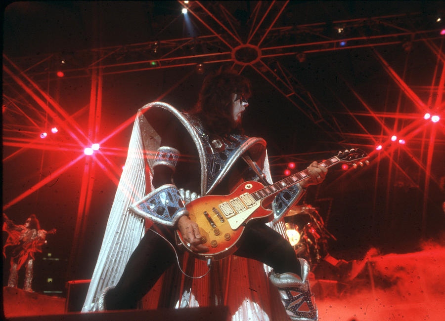 Kiss Performing Photograph by Michael Ochs Archives