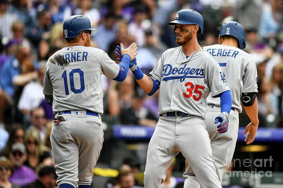 Los Angeles Dodgers V Colorado Rockies 13 Photograph by Dustin Bradford