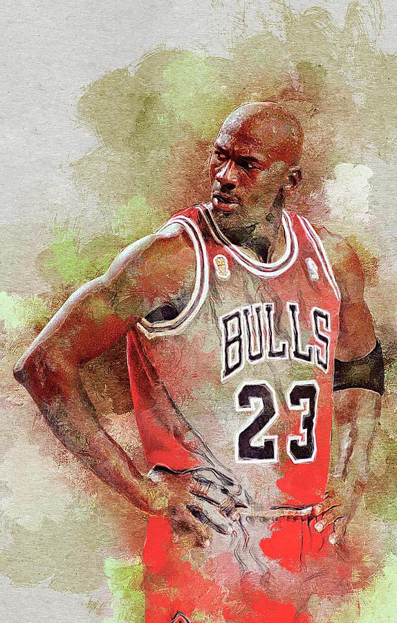 Michael Jordan Digital Art - Michael Jeffrey Jordan by Nadezhda Zhuravleva