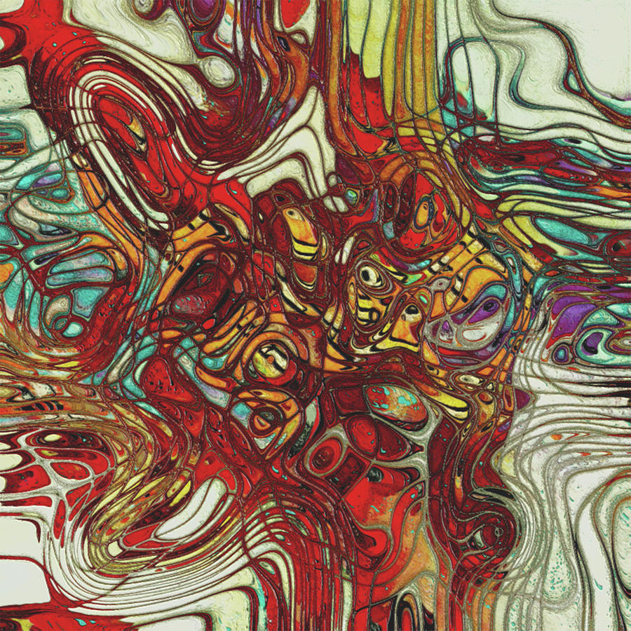 Metal Painting - My Colorful World Series by Jack Zulli