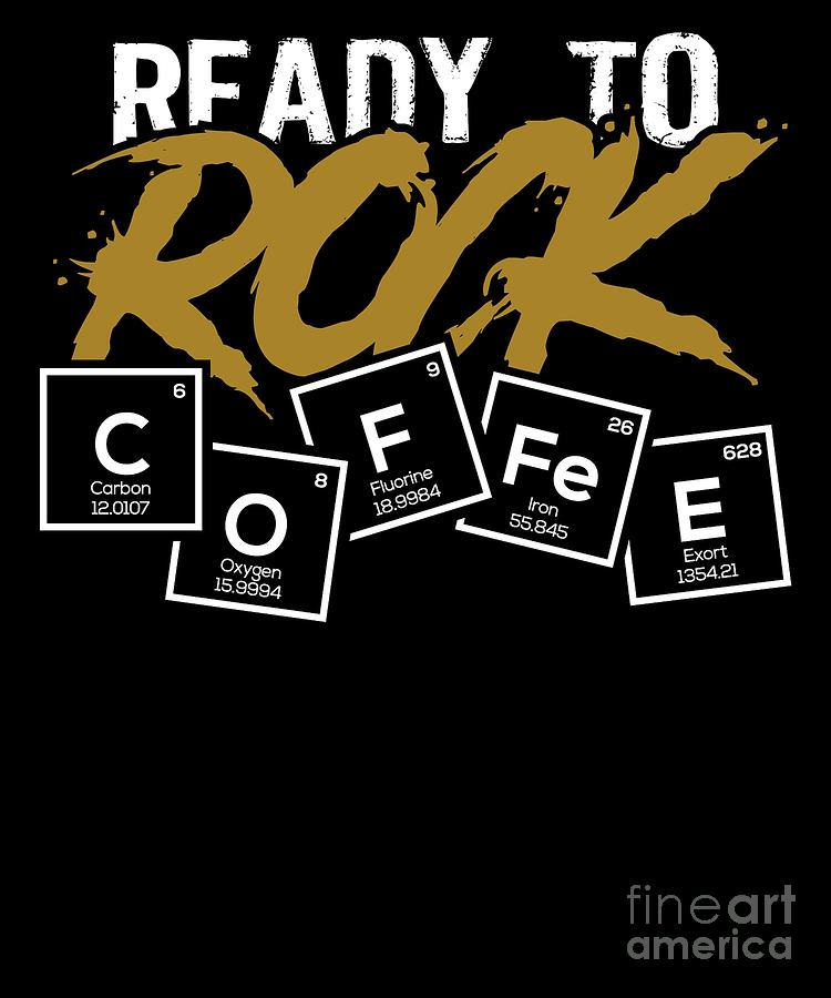 Periodic Table of Coffee Caffein Espresso Gift by TeeQueen2603