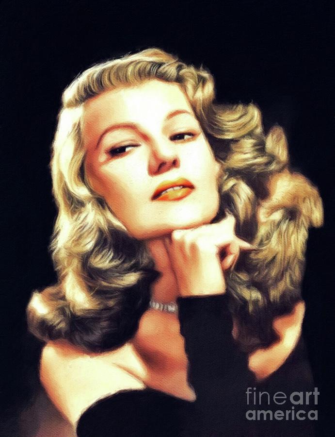 Rita Painting - Rita Hayworth, Vintage Movie Star by John Springfield