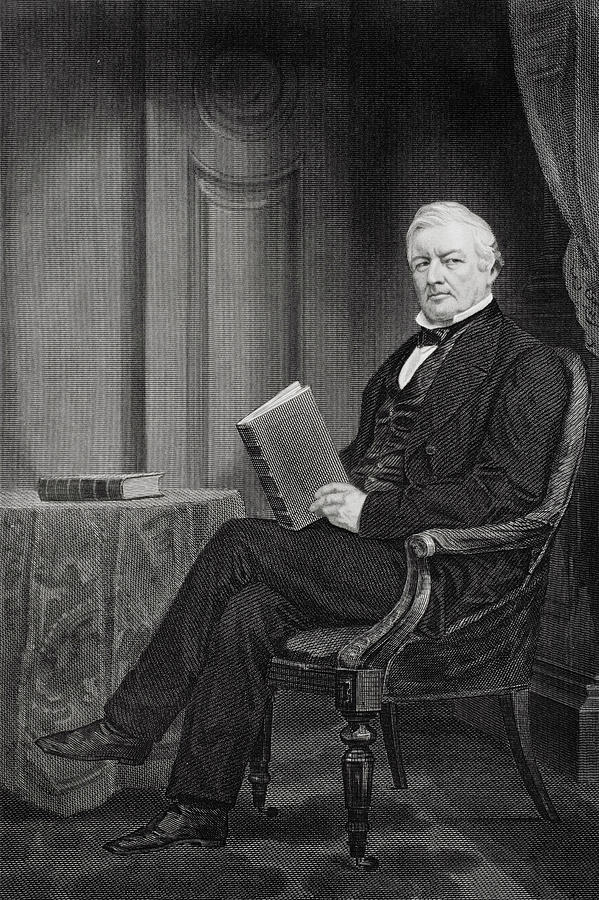 13th President Drawing - Millard Fillmore, 1800 - 1874. 13th President Of The United States by Ken Welsh