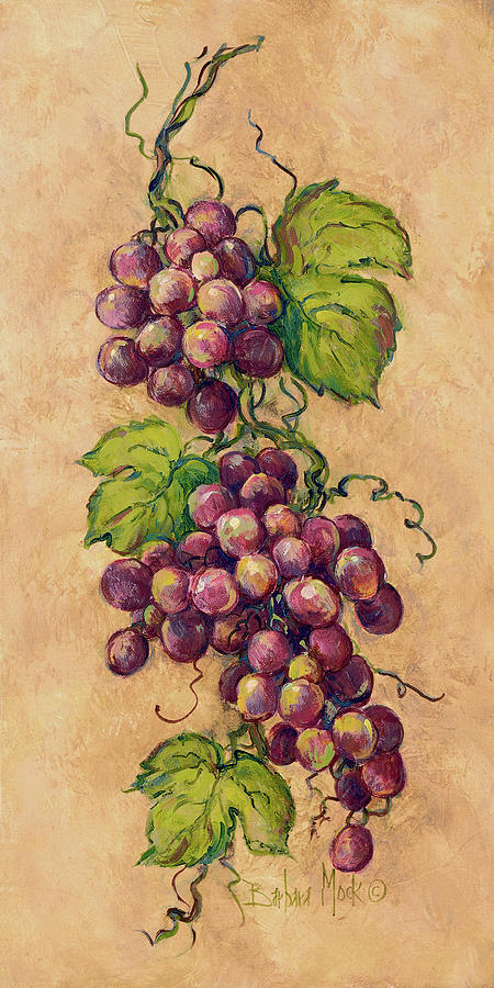 Grapes Painting - 13929 Vintage Grapevine I by Barbara Mock