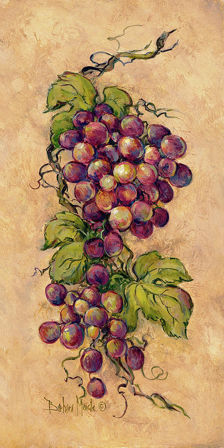Grapes Painting - 13932 Vintage Grapevine II by Barbara Mock