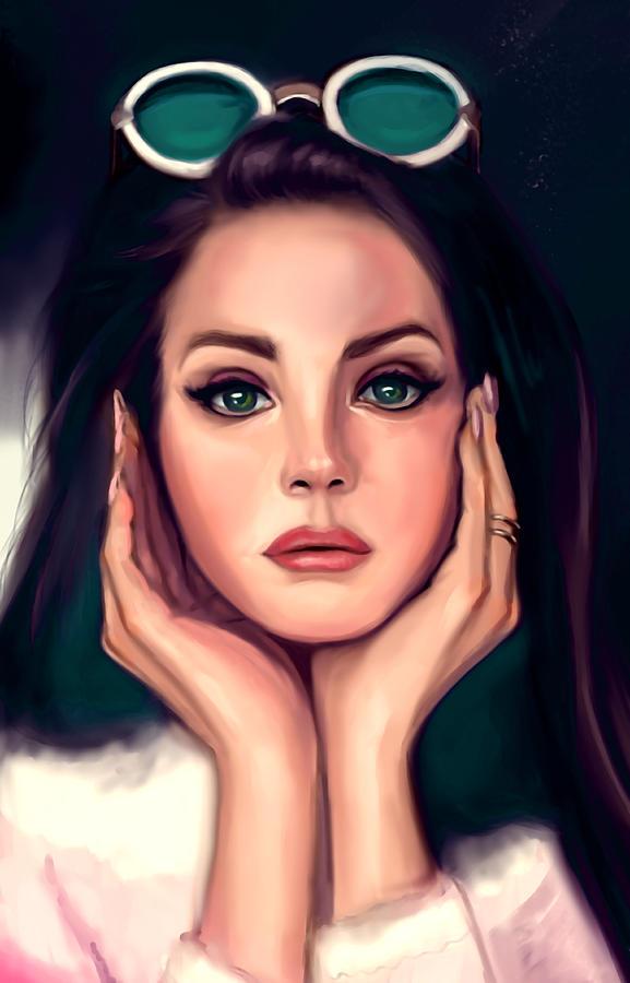 Lana Del Rey Digital Art By Aixa Etet
