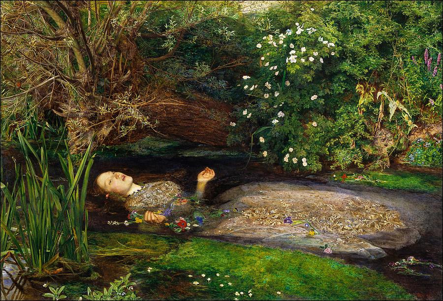 Ophelia Painting - Ophelia by John Everett Millais