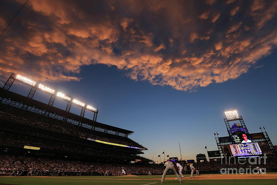 Philadelphia Phillies V Colorado Rockies Photograph by Doug Pensinger