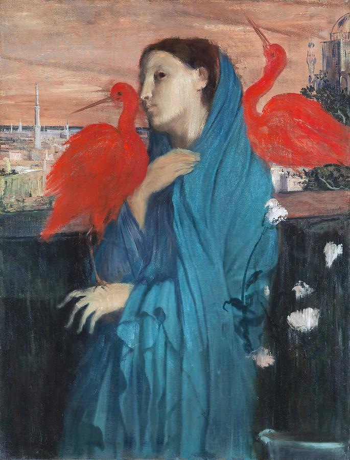 Edgar Degas Painting - Young Woman With Ibis  by Edgar Degas