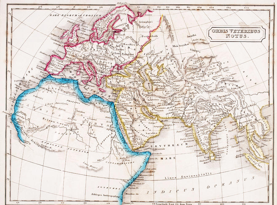 Map Of Europe, Northern Africa And Western Asia, Orbis Veteribus Notus.