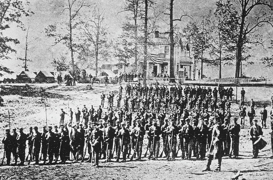 149th Ny Volunteer Regiment Photograph by Archive Photos