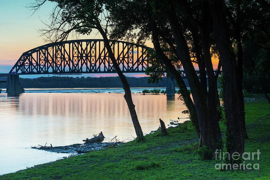 14th Street Railroad Bridge Sunset - Louisville Kentucky by Gary Whitton